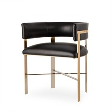 Resource Decor Art Dining Chair - Black Leather