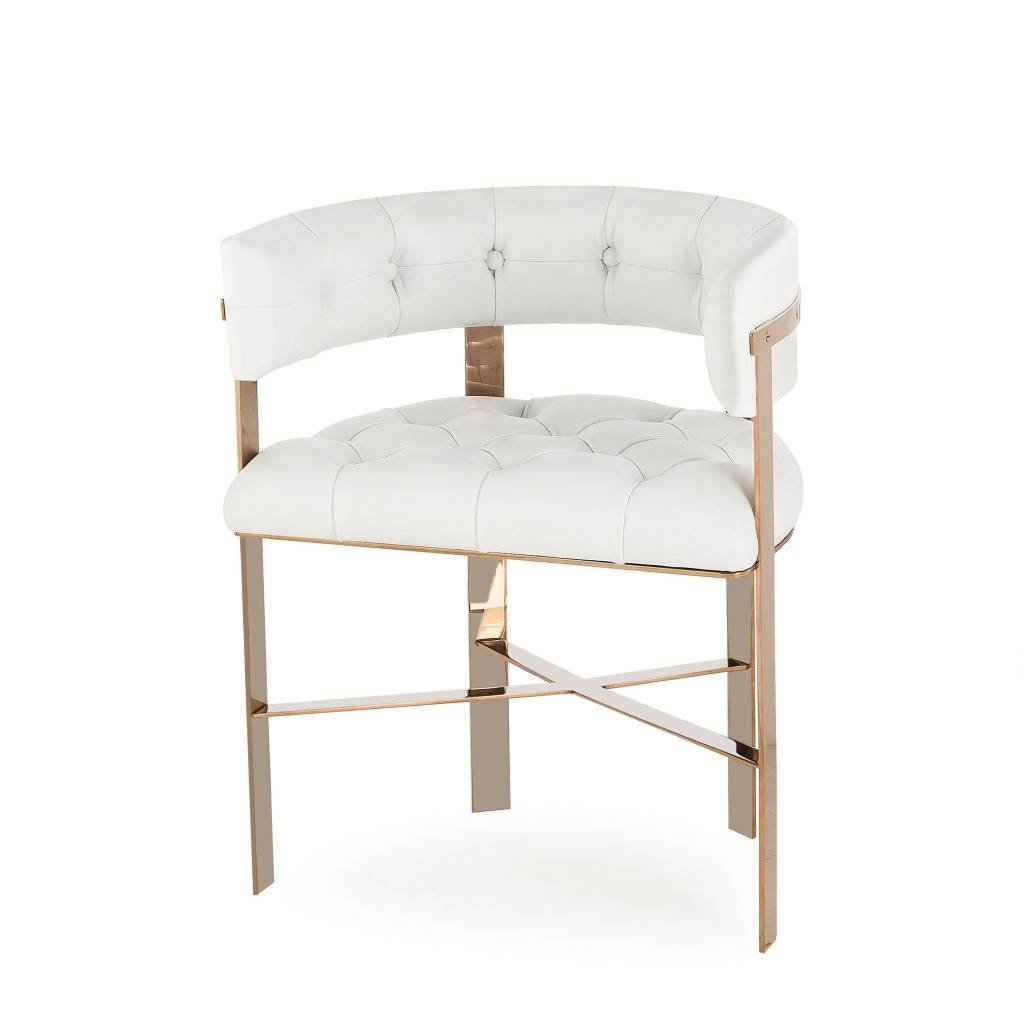 Resource Decor Art Dining Chair - White Leather (UK)