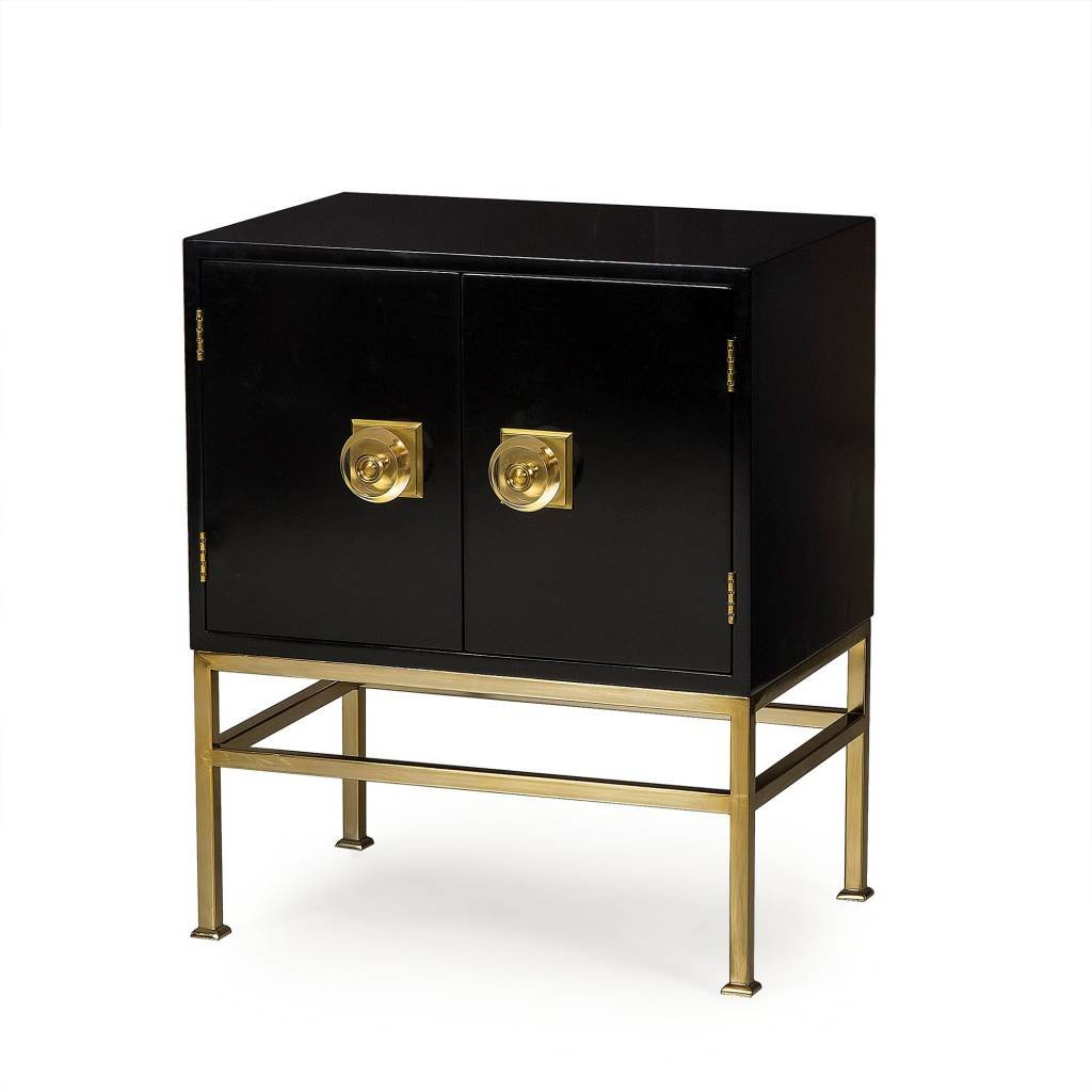 Resource Decor Formal Nightstand 2 Door Black