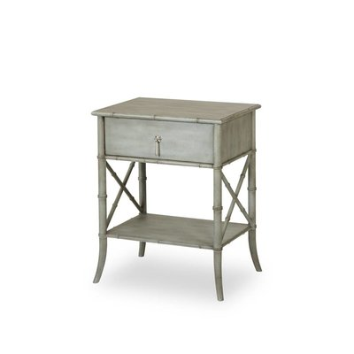 Resource Decor Bamboo Nightstand Sage Green