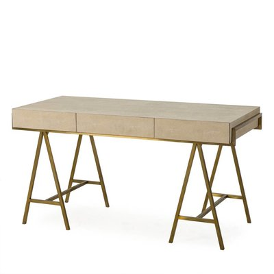 Resource Decor Delilah Desk- Cream Shagreen