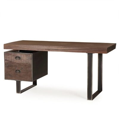 Resource Decor Charles Desk - Single Ped / Live Edge