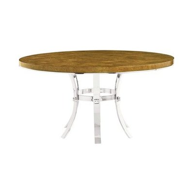 Bernhardt ??? ?? ?? ???? Soho Luxe Round Dining Table and Metal Base