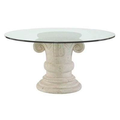 Bernhardt ??? ?? ?? ?? Campania Round Dining Table Glass Top and Pedestal Base