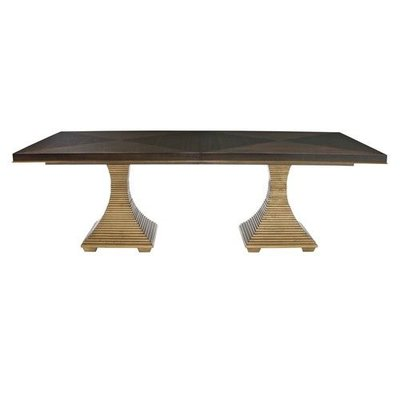 Bernhardt ??? ?? ?? Jet Set Double Pedestal Dining Table