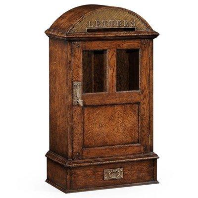 Jonathan Charles Dark Oak Letter Box With Lock