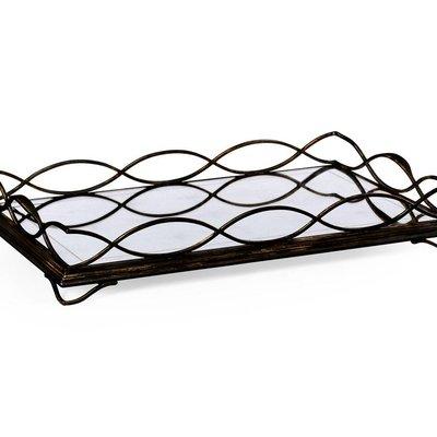 Jonathan Charles Bronze Iron Rectangular Tray