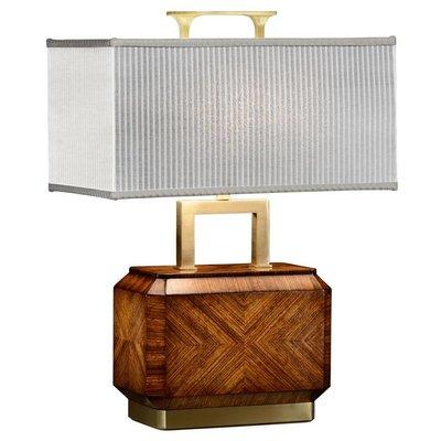 Jonathan Charles Tea Caddy Zebrano Veneer Table Lamp