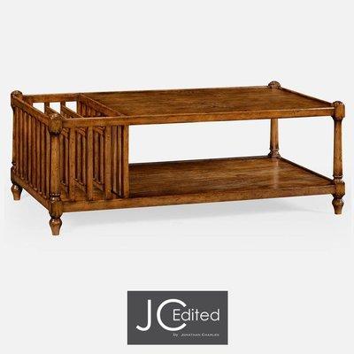 Jonathan Charles Country Walnut Rectangular Coffee Table