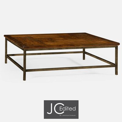 Jonathan Charles Country Walnut Square Coffee Table
