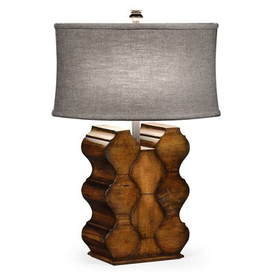 Jonathan Charles Rustic Walnut Wood Table Lamp