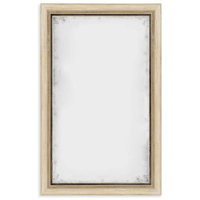Jonathan Charles Rectangular Limed Acacia Antique Mirror