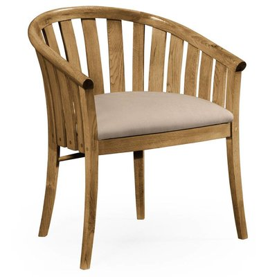 Jonathan Charles Light Oak Tub Chair