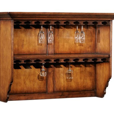 Jonathan Charles Hanging Shelf with Glass Storage