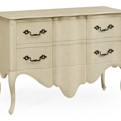 Jonathan Charles Linen Painted French Provincial Chest of Drawers