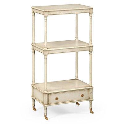 Jonathan Charles Three-Tier Grey Rub-Through Etagere