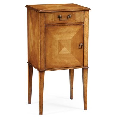 Jonathan Charles Pair of Satinwood Bedside Cabinets