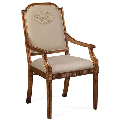 Jonathan Charles Upholstered Dining Chair with Gold Embroidery