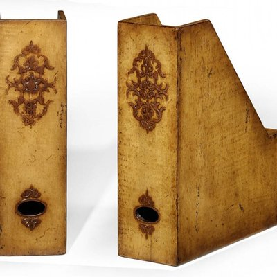 Jonathan Charles Pair Of Box File Bookends