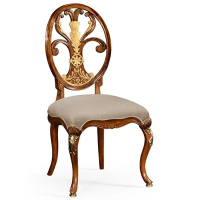 Jonathan Charles Sheraton Style Oval Back Side Chair