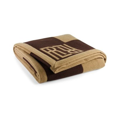 Rauph Lauren Montclair RL Signature Blanket Chocolate