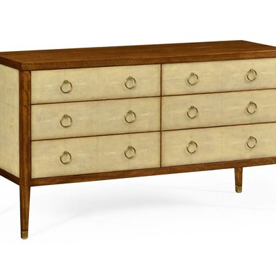 Jonathan Charles Ivory Shagreen Double Chest of Drawers