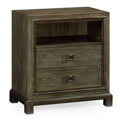 Jonathan Charles Nightstand in Light Grey Chestnut