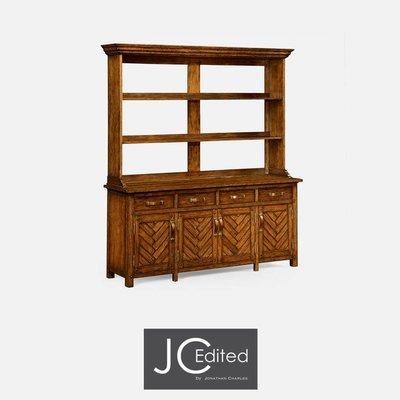 Jonathan Charles Country Walnut Parquet Welsh Dresser