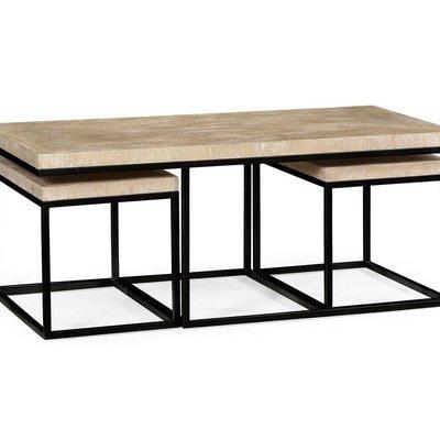 Jonathan Charles Rectangular Coffee Table in Limed Acacia