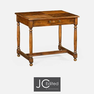 Jonathan Charles Country Walnut Parquet Rectangular Side Table