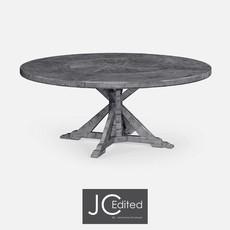 Jonathan Charles Antique Dark Grey Circular Dining Table