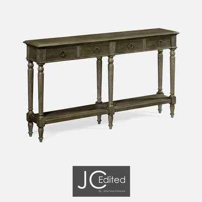 Jonathan Charles Large Narrow Chestnut Console Table
