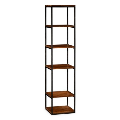 Jonathan Charles Five Tiered tag?re in Rustic Walnut
