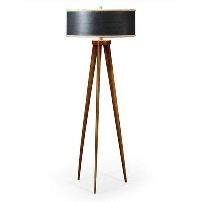 Jonathan Charles Floor Lamp with Triangular Base