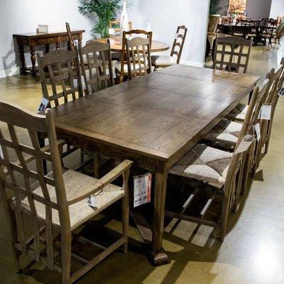 Jonathan Charles Nine Piece Dining Room Set
