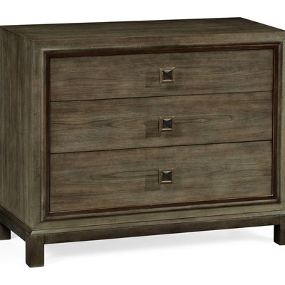 Jonathan Charles Large Chest of Drawers in Light Grey Chestnut