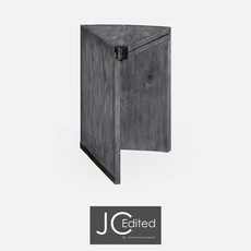 Jonathan Charles Antique Dark Grey Rectracting Side Table
