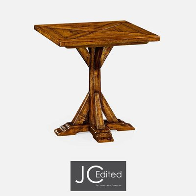 Jonathan Charles Country Walnut Square Side Table