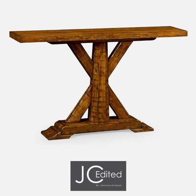 Jonathan Charles Country Walnut Rectangular Console Table