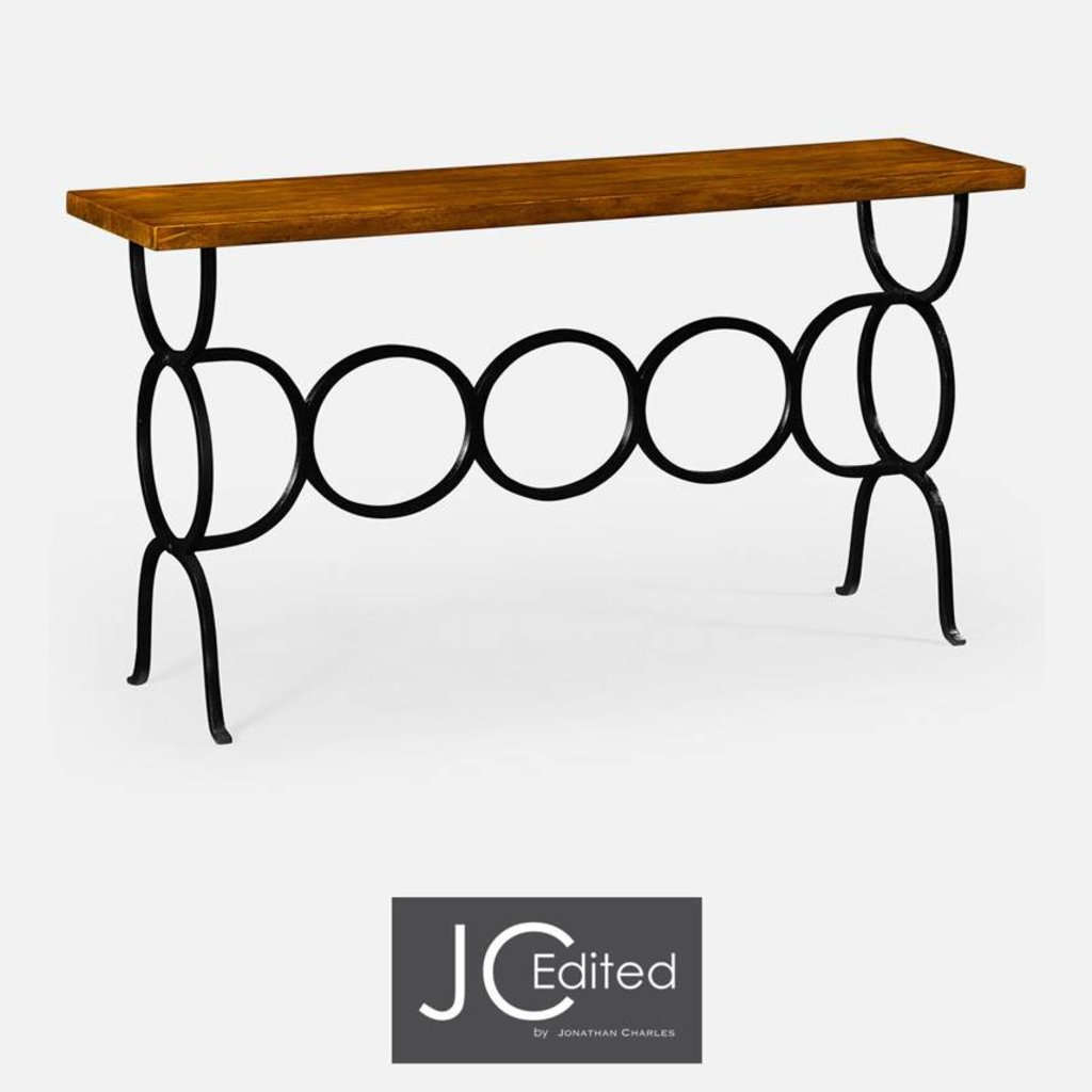 Jonathan Charles Country Walnut Console Table