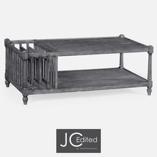 Jonathan Charles Antique Dark Grey Rectangular Coffee Table