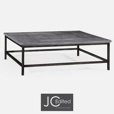 Jonathan Charles Antique Dark Grey Square Coffee Table