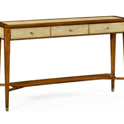Jonathan Charles Ivory Shagreen Console Table with Drawers
