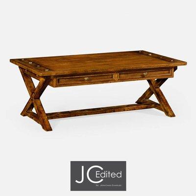 Jonathan Charles Country Walnut Coffee Table