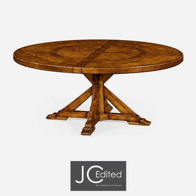 Jonathan Charles Country Walnut Round Dining Table