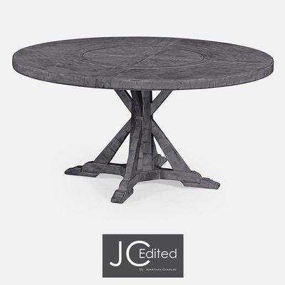 Jonathan Charles Circular Dining Table in Antique Dark Grey