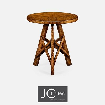 Jonathan Charles Country Walnut Rustic Lamp Table