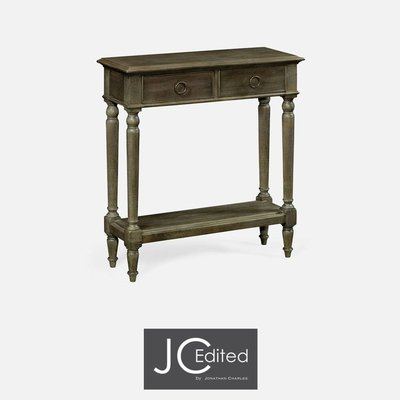 Jonathan Charles Small Narrow Chestnut Console Table
