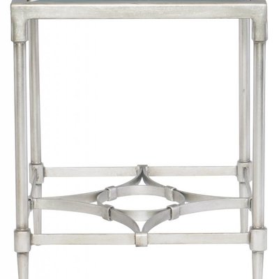 Bernhardt Cordelia Glass Top End Table with Metal Base