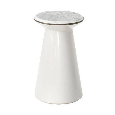 Theodore Alexander Contour Side Table (Pure Pearl, Small II)